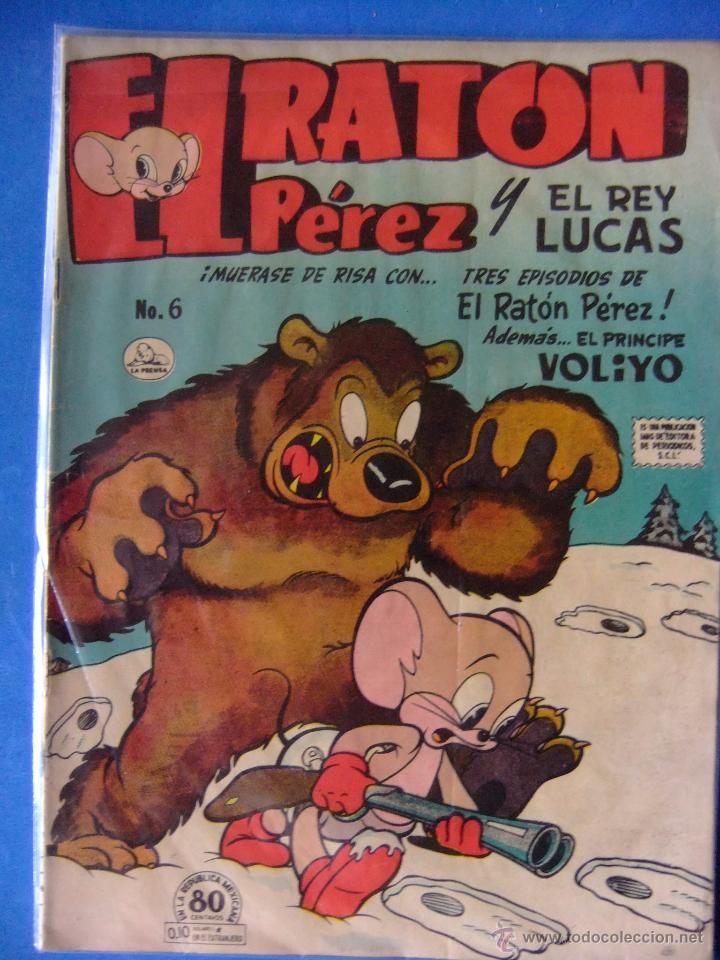 EL RATON PEREZ Y EL REY LUCAS Nº 6 LA PRENSA ( MEXICO ) SIMILAR A NOVARO JULIO DE 1952 (Tebeos y Comics - Novaro - Otros)
