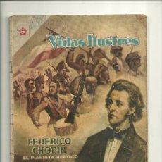 Tebeos: VIDAS ILUSTRES N° 18 - FEDERICO CHOPIN - ORIGINAL EDITORIAL NOVARO. Lote 50913664