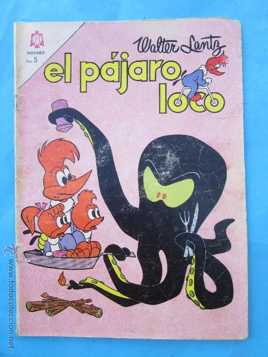 EL PAJARO LOCO , N.259 , EDITORIAL NOVARO 1964 (Tebeos y Comics - Novaro - Otros)