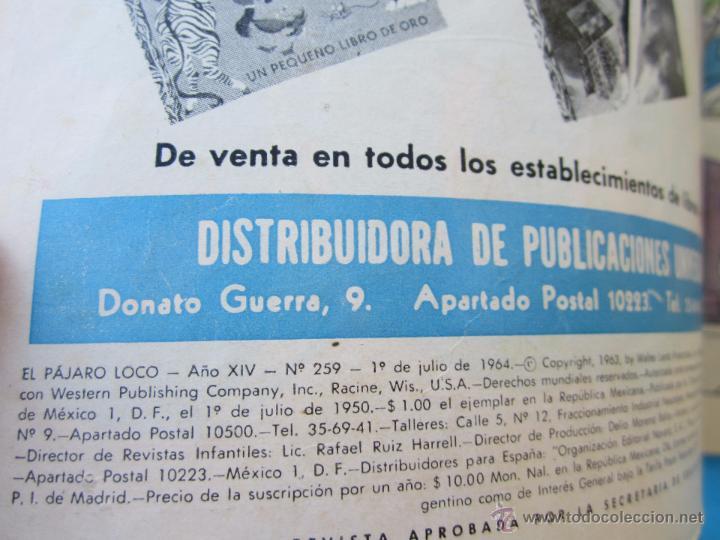 Tebeos: el pajaro loco , n.259 , editorial novaro 1964 - Foto 2 - 51387671