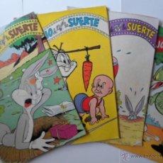 Tebeos: 4 COMICS EL CONEJO DE LA SUERTE - AÑOS 60 - ORIGINALES. Lote 52292167