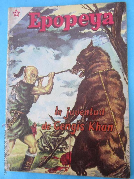 EPOPEYA NUMERO 22 - LA JUVENTUD DE GENGIS KHAN . NOVARO 1960 (Tebeos y Comics - Novaro - Epopeya)