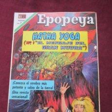 Tebeos: EPOPEYAS Nº 144. HATAH YOGA, MENSAJE DE GRAN MUDRA. ED. NOVARO, 1970. TEBENI MBE. Lote 52558270