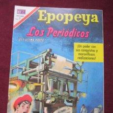 Tebeos: EPOPEYAS Nº 143. LOS PERIODICOS (2ª PARTE). ED. NOVARO, 1970. TEBENI MBE. Lote 52558321