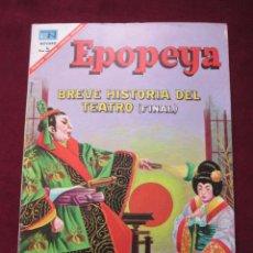 Tebeos: EPOPEYAS Nº 111 BREVE HISTORIA DEL TEATRO (FINAL) ED. NOVARO, 1967. TEBENI MBE. Lote 52558862