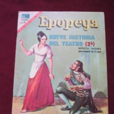 Tebeos: EPOPEYAS Nº 110 BREVE HISTORIA DEL TEATRO (2ª PARTE) ED. NOVARO, 1967. TEBENI MBE. Lote 52558902