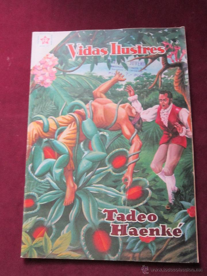 VIDAS ILUSTRES Nº 43. TADEO HAENKÉ 1959. NOVARO. TEBENI. (Tebeos y Comics - Novaro - Vidas ilustres)