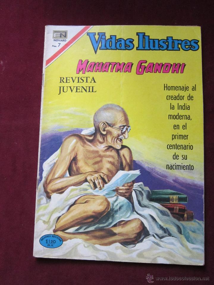 VIDAS ILUSTRES MAHATMA GANDHI. NÚMERO ESPECIAL. NOVARO 1969. TEBENI (Tebeos y Comics - Novaro - Vidas ilustres)