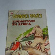 Tebeos - GRANDES VIAJES - ED. NOVARO. N. 8. AÑO 1963. LIVINGSTONE EN AFRICA. - 52876644