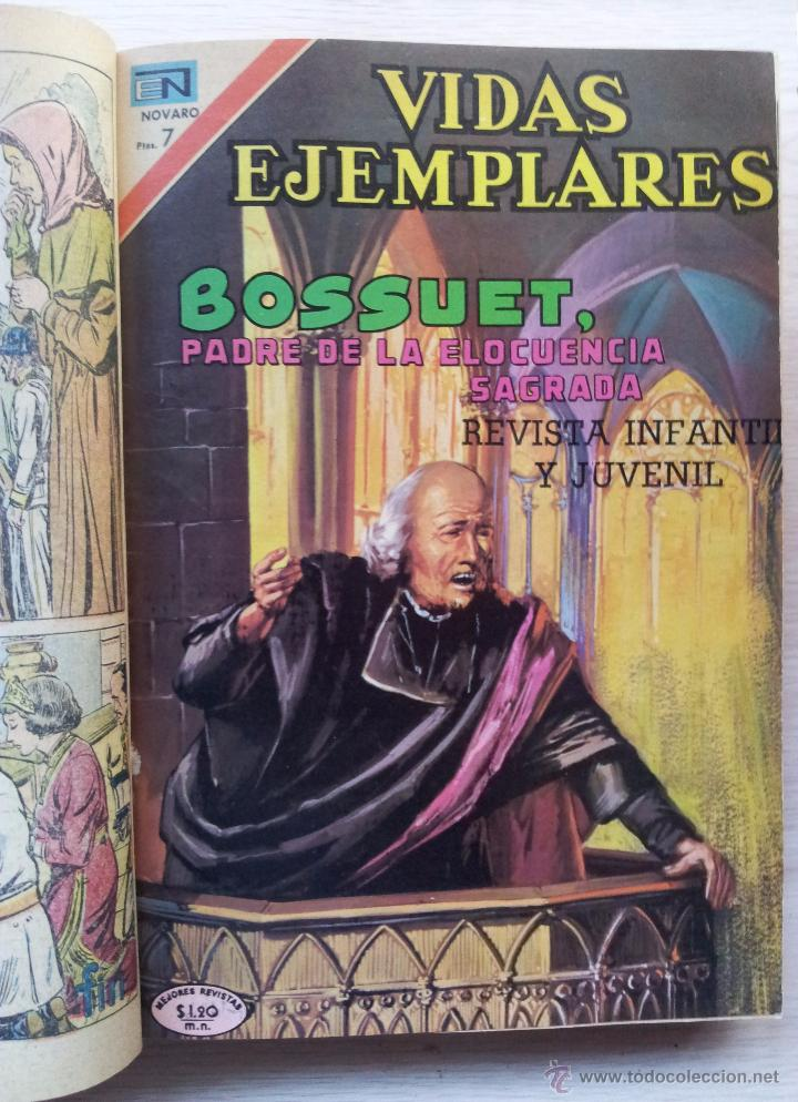 Tebeos: VIDAS EJEMPLARES - TOMO CON 14 REVISTAS ENCUADERNADO - EDITORIAL NOVARO 1966/70 - Foto 3 - 52922287