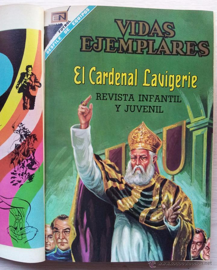 Tebeos: VIDAS EJEMPLARES - TOMO CON 14 REVISTAS ENCUADERNADO - EDITORIAL NOVARO 1966/70 - Foto 4 - 52922287