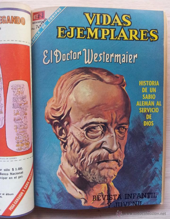 Tebeos: VIDAS EJEMPLARES - TOMO CON 14 REVISTAS ENCUADERNADO - EDITORIAL NOVARO 1966/70 - Foto 6 - 52922287