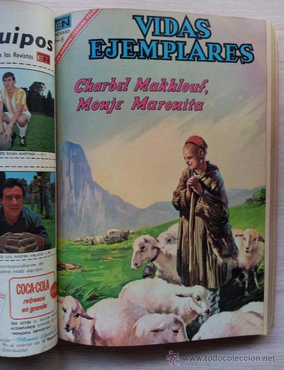 Tebeos: VIDAS EJEMPLARES - TOMO CON 14 REVISTAS ENCUADERNADO - EDITORIAL NOVARO 1966/70 - Foto 7 - 52922287