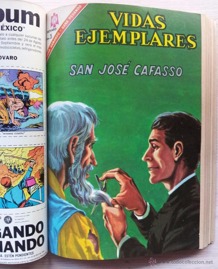 Tebeos: VIDAS EJEMPLARES - TOMO CON 14 REVISTAS ENCUADERNADO - EDITORIAL NOVARO 1966/70 - Foto 8 - 52922287