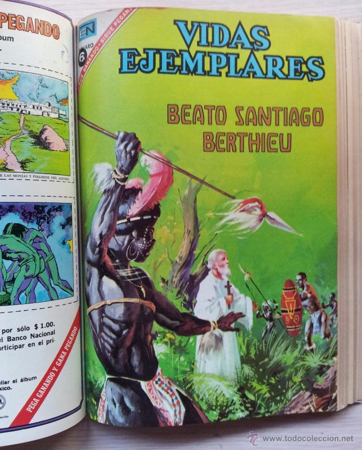 Tebeos: VIDAS EJEMPLARES - TOMO CON 14 REVISTAS ENCUADERNADO - EDITORIAL NOVARO 1966/70 - Foto 10 - 52922287