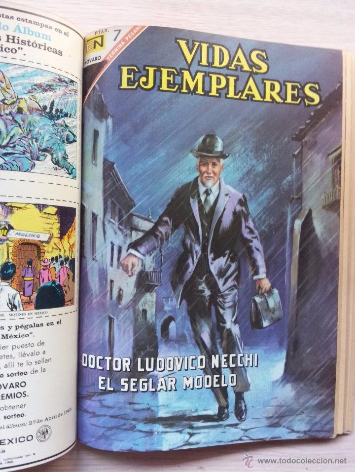 Tebeos: VIDAS EJEMPLARES - TOMO CON 14 REVISTAS ENCUADERNADO - EDITORIAL NOVARO 1966/70 - Foto 12 - 52922287