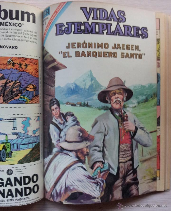 Tebeos: VIDAS EJEMPLARES - TOMO CON 14 REVISTAS ENCUADERNADO - EDITORIAL NOVARO 1966/70 - Foto 13 - 52922287