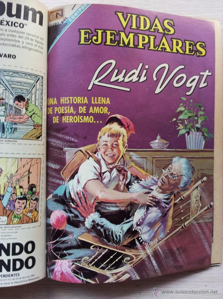 Tebeos: VIDAS EJEMPLARES - TOMO CON 14 REVISTAS ENCUADERNADO - EDITORIAL NOVARO 1966/70 - Foto 15 - 52922287