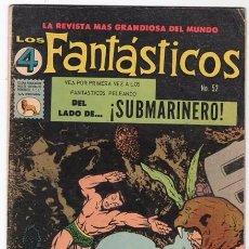 Tebeos: LOS 4 FANTASTICOS # 52 LA PRENSA 1965 KIRBY STAN LEE 1ER APARICION DE ATTUMA SUBMARINERO NAMOR EXCEL. Lote 53515753