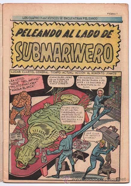Tebeos: LOS 4 FANTASTICOS # 52 LA PRENSA 1965 KIRBY STAN LEE 1er APARICION DE ATTUMA SUBMARINERO NAMOR EXCEL - Foto 3 - 53515753