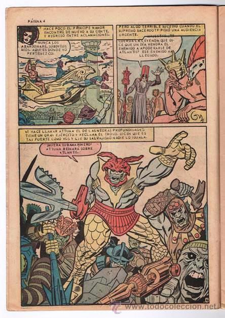 Tebeos: LOS 4 FANTASTICOS # 52 LA PRENSA 1965 KIRBY STAN LEE 1er APARICION DE ATTUMA SUBMARINERO NAMOR EXCEL - Foto 4 - 53515753