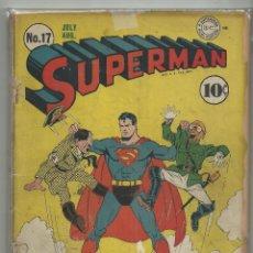 Tebeos: SUPERMAN # 17 PORTADA HITLER,HIROHITO. Lote 53833729