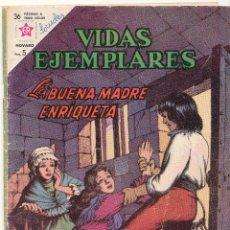 Tebeos: VIDAS EJEMPLARES Nº 156. LA BUENA MADRE ENRIQUETA. NOVARO 1963.. Lote 54746798