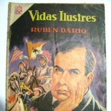 Tebeos: ANTIGUA REVISTA COMIC HISTORIETA VIDAS ILUSTRES RUBEN DARIO NOVARO MEXICO AÑO 1966. Lote 54764411