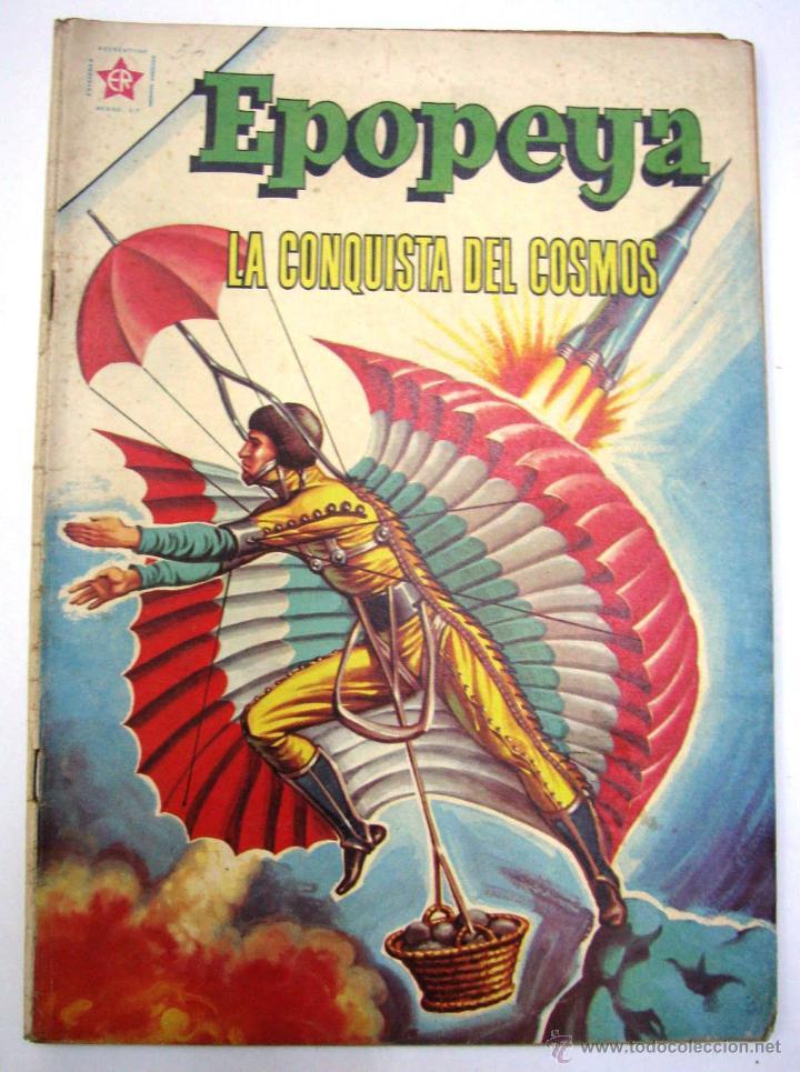 ANTIGUA REVISTA EPOPEYA LA CONQUISTA DEL COSMOS ER NOVARO MEXICO AÑO 1962 (Tebeos y Comics - Novaro - Epopeya)