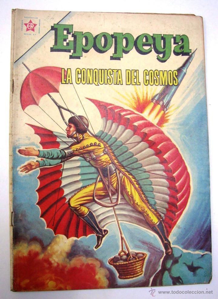 Tebeos: ANTIGUA REVISTA EPOPEYA LA CONQUISTA DEL COSMOS ER NOVARO MEXICO AÑO 1962 - Foto 2 - 54787108