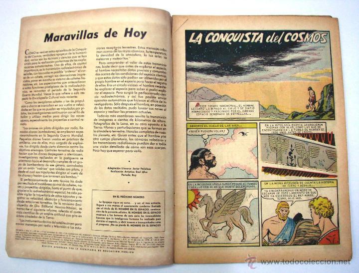 Tebeos: ANTIGUA REVISTA EPOPEYA LA CONQUISTA DEL COSMOS ER NOVARO MEXICO AÑO 1962 - Foto 4 - 54787108