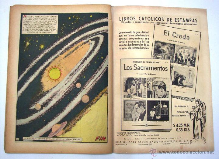 Tebeos: ANTIGUA REVISTA EPOPEYA LA CONQUISTA DEL COSMOS ER NOVARO MEXICO AÑO 1962 - Foto 13 - 54787108