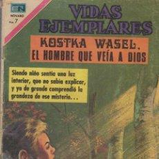 Tebeos: TBE - COMIC EDITORIAL NOVARO VIDAS EJEMPLARES KOSTKA WESEL EL HOMBRE QUE VEIA A DIOS Nº 347. Lote 54810422