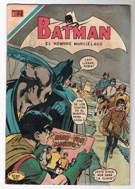 BATMAN # 552 NOVARO 1970 DC COMICS # 222 BATMAN & THE BEATLES NEAL ADAMS ROBBINS GIORDANO NOVICK EXC (Tebeos y Comics - Novaro - Batman)