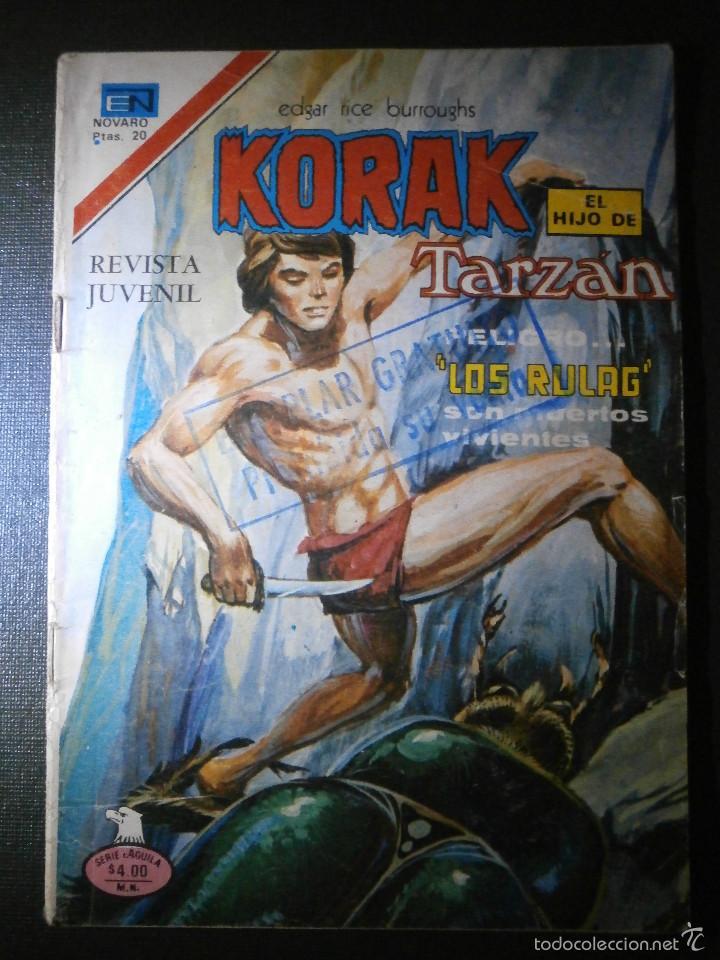 COMIC - SERIE AGUILA: KORAK EL HIJO DE TARZAN, EDITORIAL NOVARO, AÑO III, Nº 2-70, AÑO 1978 (Tebeos y Comics - Novaro - Tarzán)