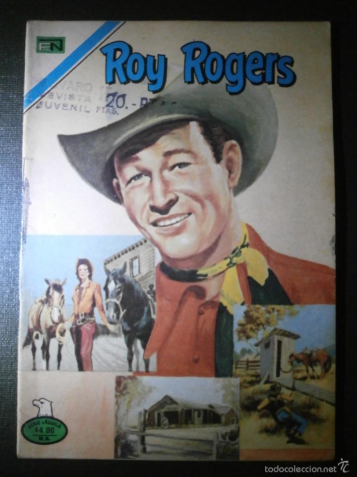 COMIC - SERIE AGUILA: ROY ROGERS - EDITORIAL NOVARO, AÑO XXV, Nº 2-393, AÑO 1977 (Tebeos y Comics - Novaro - Roy Roger)