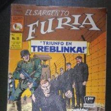 Tebeos: COMIC - EL SARGENTO FURIA - TRIUNFO EN TREBLINKA - AÑO IV Nº 55 - 1969 - LA PRENSA -. Lote 55865314