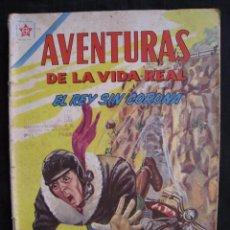 Tebeos: AVENTURAS DE LA VIDA REAL - Nº 75 - EL REY SIN CORONA - EDITORIAL NOVARO 1962.. Lote 55996455
