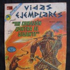 Tebeos: VIDAS EJEMPLARES - Nº 400 - UN CORAZON CONTRA EL GIGANTE - EDITORIAL NOVARO 1973.. Lote 55996607