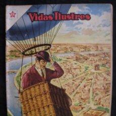 Tebeos: VIDAS ILUSTRES - Nº 9 - ALBERTO SANTOS DUMONT, PRECURSOR DE LA AVIACION - ED, NOVARO 1956.. Lote 56028055