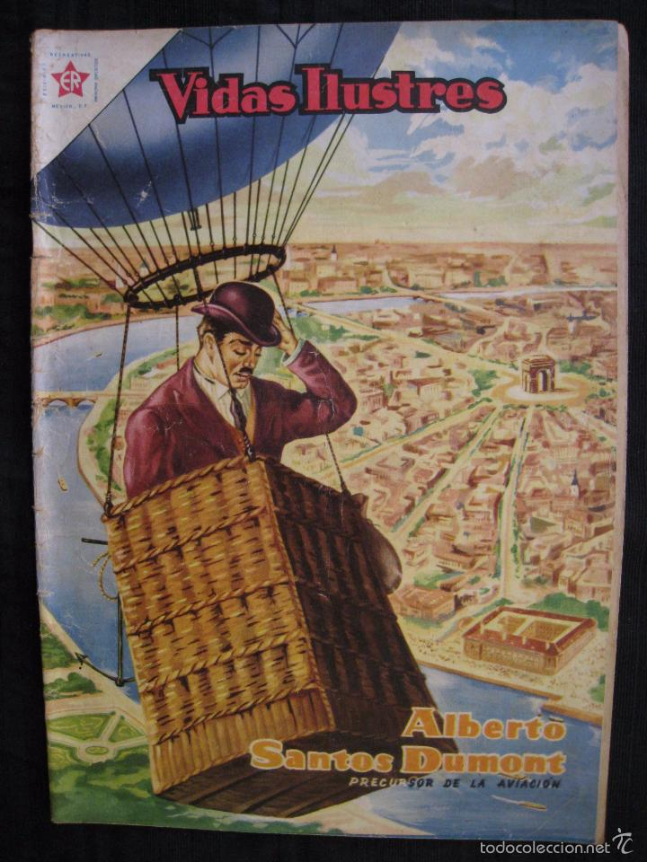 Tebeos: VIDAS ILUSTRES - Nº 9 - ALBERTO SANTOS DUMONT, PRECURSOR DE LA AVIACION - ED, NOVARO 1956. - Foto 2 - 56028055