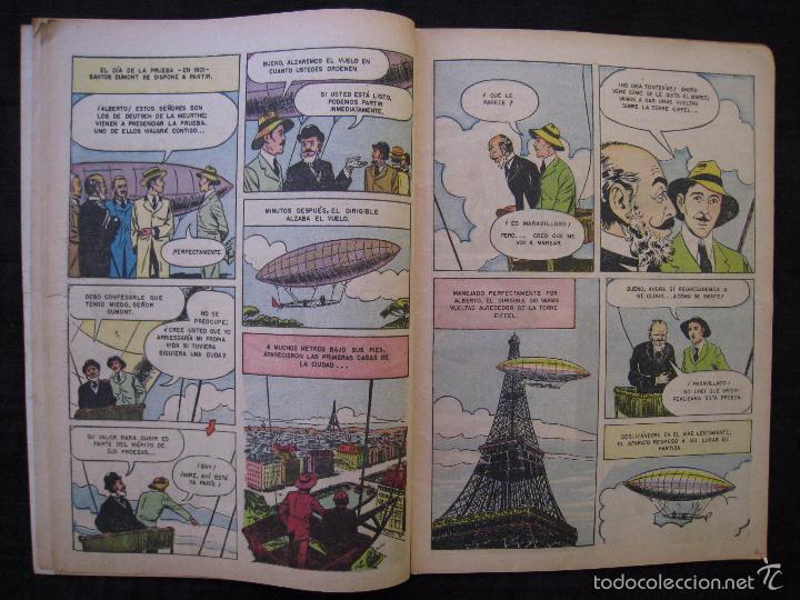 Tebeos: VIDAS ILUSTRES - Nº 9 - ALBERTO SANTOS DUMONT, PRECURSOR DE LA AVIACION - ED, NOVARO 1956. - Foto 5 - 56028055