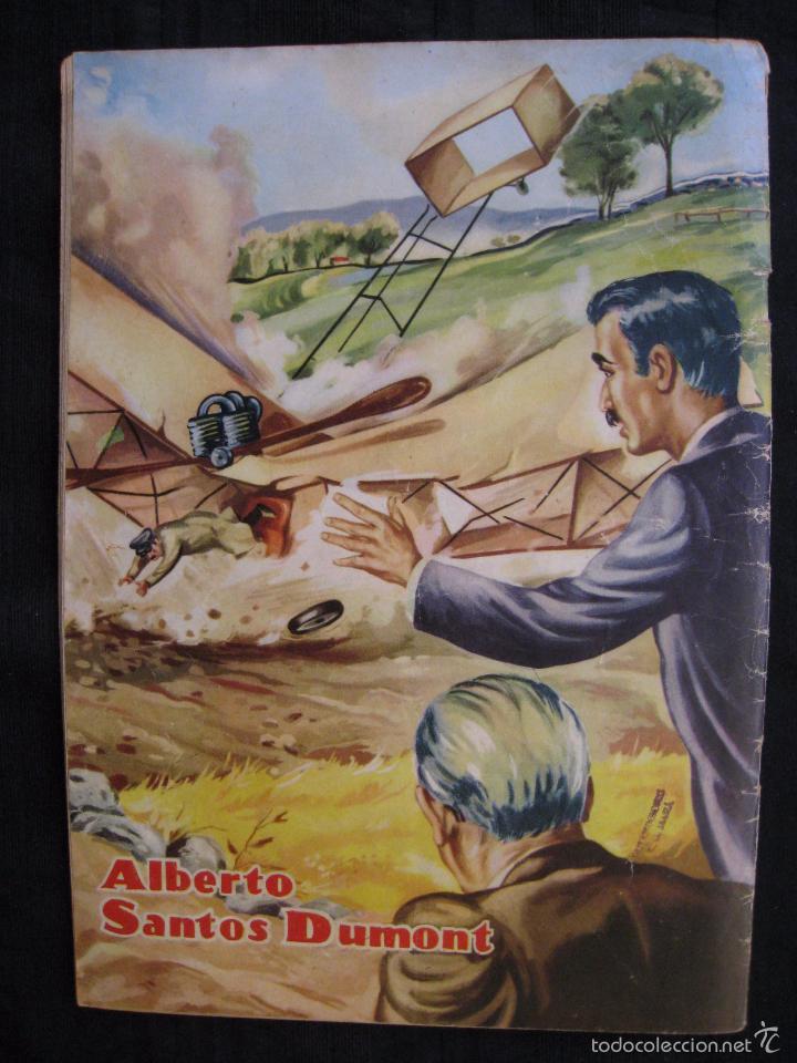 Tebeos: VIDAS ILUSTRES - Nº 9 - ALBERTO SANTOS DUMONT, PRECURSOR DE LA AVIACION - ED, NOVARO 1956. - Foto 6 - 56028055