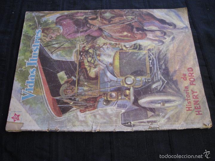 Tebeos: VIDAS ILUSTRES - Nº 32 - HISTORIA DE HENRY FORD - ED, NOVARO 1958. - Foto 3 - 56028687