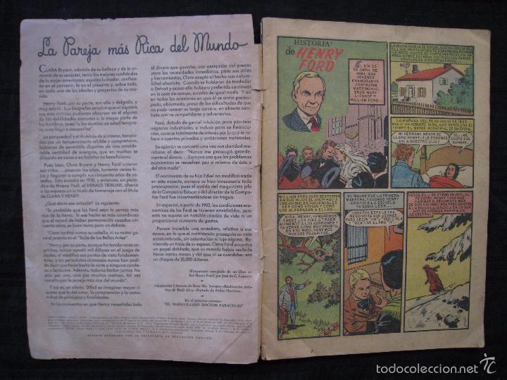 Tebeos: VIDAS ILUSTRES - Nº 32 - HISTORIA DE HENRY FORD - ED, NOVARO 1958. - Foto 4 - 56028687