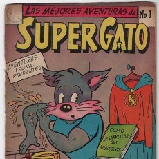 Tebeos: SUPER GATO # 1 LA PRENSA NOVARO 1958 LA BOTA MAGICA 32 PAG EXPORT NEWSPAPER BUEN ESTADO. Lote 57107785