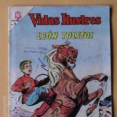 Tebeos: VIDAS ILUSTRES Nº 107, LEÓN TOLSTOI, ED. NOVARO, AÑO 1964 ERCOM. Lote 57243192