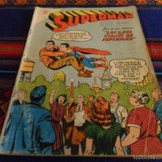 Tebeos: SUPERMAN Nº 156. NOVARO 1958. LOS 1001 VIAJES DE SUPERMAN. RARO.. Lote 57363979