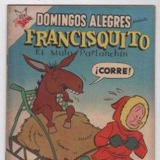 Tebeos: DOMINGOS ALEGRES # 203 FRANCISQUITO NOVARO 1958 FRANCIS THE TALKING MULE DAVID STERN EXCELENTE ESTA. Lote 57374389