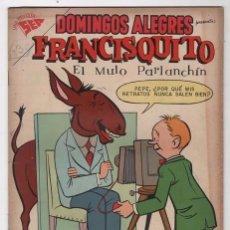 Tebeos: DOMINGOS ALEGRES # 215 FRANCISQUITO NOVARO 1958 FRANCIS THE TALKING MULE DAVID STERN EXCELENTE ESTA. Lote 57374396